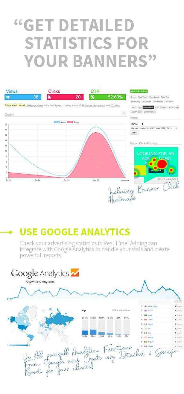 smarTrack detailed advertising statistics